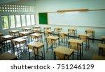lecture room or school empty... | Shutterstock . vector #751246129