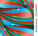 azerbaijan flag vector... | Shutterstock .eps vector #751246657