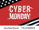 cyber monday layered design... | Shutterstock .eps vector #751250005