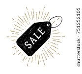 hand drawn price tag textured... | Shutterstock .eps vector #751252105