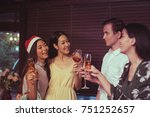 friends in meeting holiday... | Shutterstock . vector #751252657