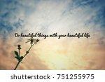 motivational and inspirational...   Shutterstock . vector #751255975
