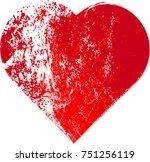 grunge heart design. | Shutterstock .eps vector #751256119