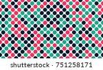 seamless polka dot pattern.... | Shutterstock .eps vector #751258171