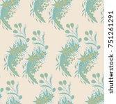 wallpaper rapport. seamless... | Shutterstock .eps vector #751261291