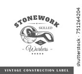 construction label isolated on... | Shutterstock .eps vector #751264204