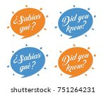 did you know   sabias que ... | Shutterstock .eps vector #751264231
