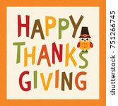 happy thanksgiving day card ... | Shutterstock .eps vector #751266745