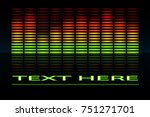 equalizer scale with reflection.... | Shutterstock .eps vector #751271701