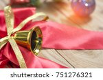 christmas background with red...   Shutterstock . vector #751276321