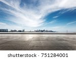 empty marble floor and... | Shutterstock . vector #751284001