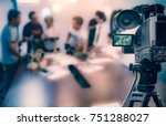 video camera taking live video... | Shutterstock . vector #751288027