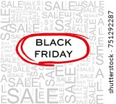 black friday. sale | Shutterstock .eps vector #751292287