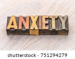 anxiety word abstract in... | Shutterstock . vector #751294279