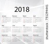 calendar 2019 year in simple... | Shutterstock .eps vector #751294441