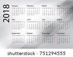 calendar 2019 year in simple... | Shutterstock .eps vector #751294555