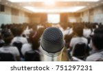 microphone over the abstract... | Shutterstock . vector #751297231