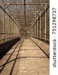 steel gate walkway. walkway... | Shutterstock . vector #751298737