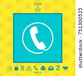 telephone handset surrounded by ...   Shutterstock .eps vector #751300525
