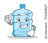thumbs up gallon character... | Shutterstock .eps vector #751303027