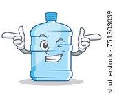 wink gallon character cartoon... | Shutterstock .eps vector #751303039