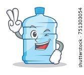 two finger gallon character... | Shutterstock .eps vector #751303054