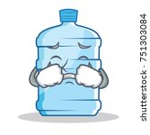 crying gallon character cartoon ... | Shutterstock .eps vector #751303084