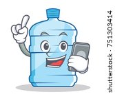 with phone gallon character... | Shutterstock .eps vector #751303414