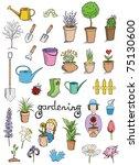 gardening color icons vector... | Shutterstock .eps vector #75130600