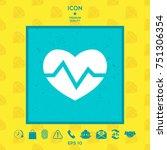 heart medical icon   Shutterstock .eps vector #751306354