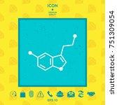 chemical formula icon. serotonin | Shutterstock .eps vector #751309054