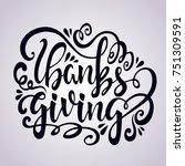 hand drawn thanksgiving...   Shutterstock .eps vector #751309591