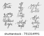 set of merry christmas and... | Shutterstock .eps vector #751314991