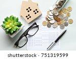 business  finance  saving money ...   Shutterstock . vector #751319599