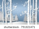 illustration of winter season... | Shutterstock .eps vector #751321471
