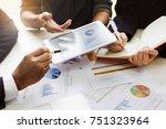 business people meeting design... | Shutterstock . vector #751323964