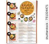 menu ramen noodle japanese food ...   Shutterstock .eps vector #751324471