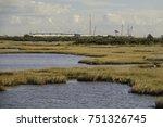 interisland bridge under... | Shutterstock . vector #751326745