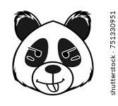 panda cartoon   Shutterstock .eps vector #751330951