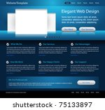 dark blue website design... | Shutterstock .eps vector #75133897