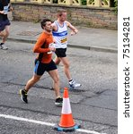 Small photo of EDINBURGH - APRIL 10: Runners take part in the ADT Edinburgh Half Marathon on April 10, 2011 in Edinburgh, Scotland. Organizers admitted the course was 300 meters too long following complaints