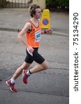 Small photo of EDINBURGH - APRIL 10: Sam Walsh (843) takes part in the ADT Edinburgh Half Marathon on April 10, 2011 in Edinburgh, Scotland. Sam Walsh finished the race in 3rd place behind winner Bryan Mackie