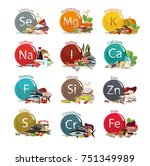 12 microelements for human... | Shutterstock .eps vector #751349989