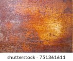 texture of rusty iron.... | Shutterstock . vector #751361611