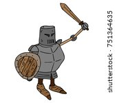 a cartoon knight. a knight with ... | Shutterstock .eps vector #751364635