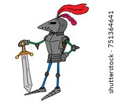 a cartoon knight. knight with a ... | Shutterstock .eps vector #751364641