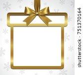 illustration of gold ribbon bow ... | Shutterstock .eps vector #751370164