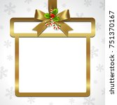 illustration of gold ribbon bow ... | Shutterstock .eps vector #751370167