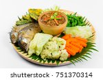 shrimp paste sauce  fried... | Shutterstock . vector #751370314