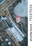 aerial view smokestack | Shutterstock . vector #751375114